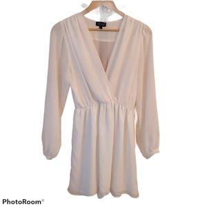 Topshop Sheer Longsleeve Mini Dress